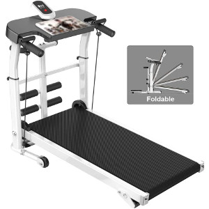 lzg compact folding manual treadmill