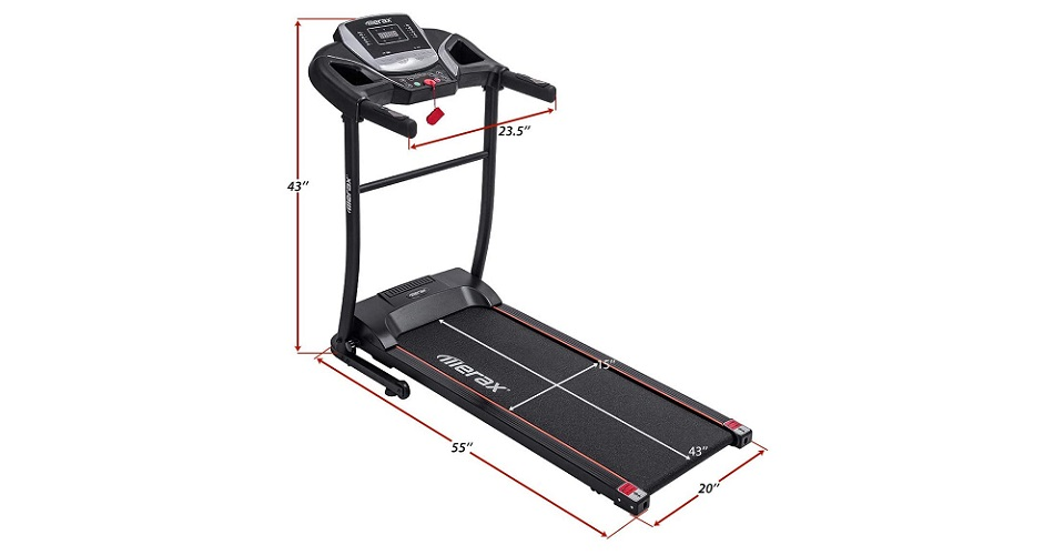 Merax Easy Assembly Folding Treadmill