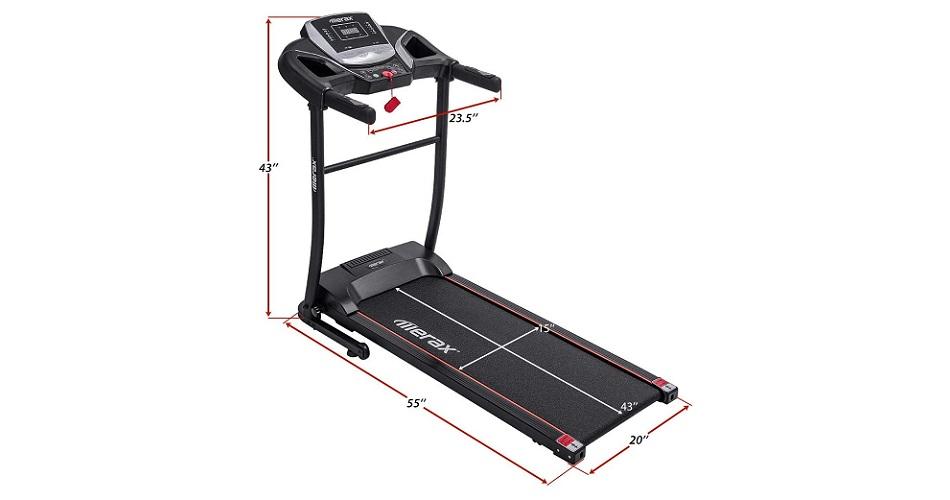 Merax Easy Assembly Folding Treadmill