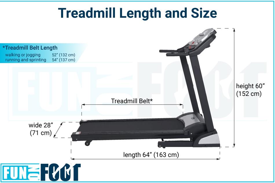 average size of a treadmill