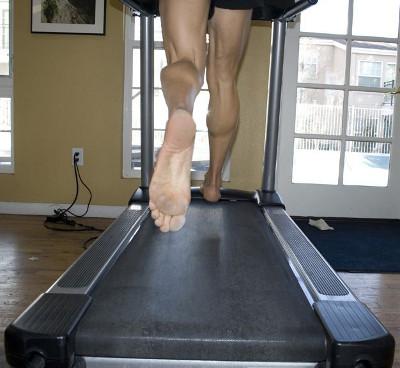 barefoot running treadmill