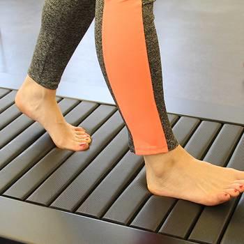 barefoot treadmill running
