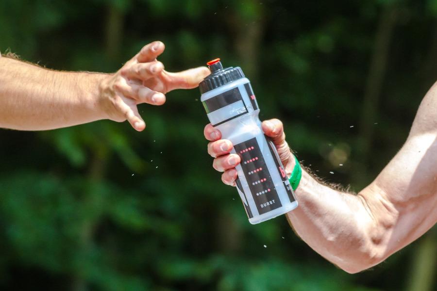 water during running